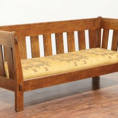 Antique Pullman Sofa Bed Foam Sleeper Arts And Crafts Settee Droughtrelief Org