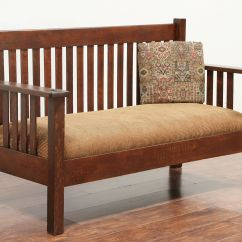 Antique Pullman Sofa Bed Best Fabric For Pillows Arts And Crafts Settee Droughtrelief Org
