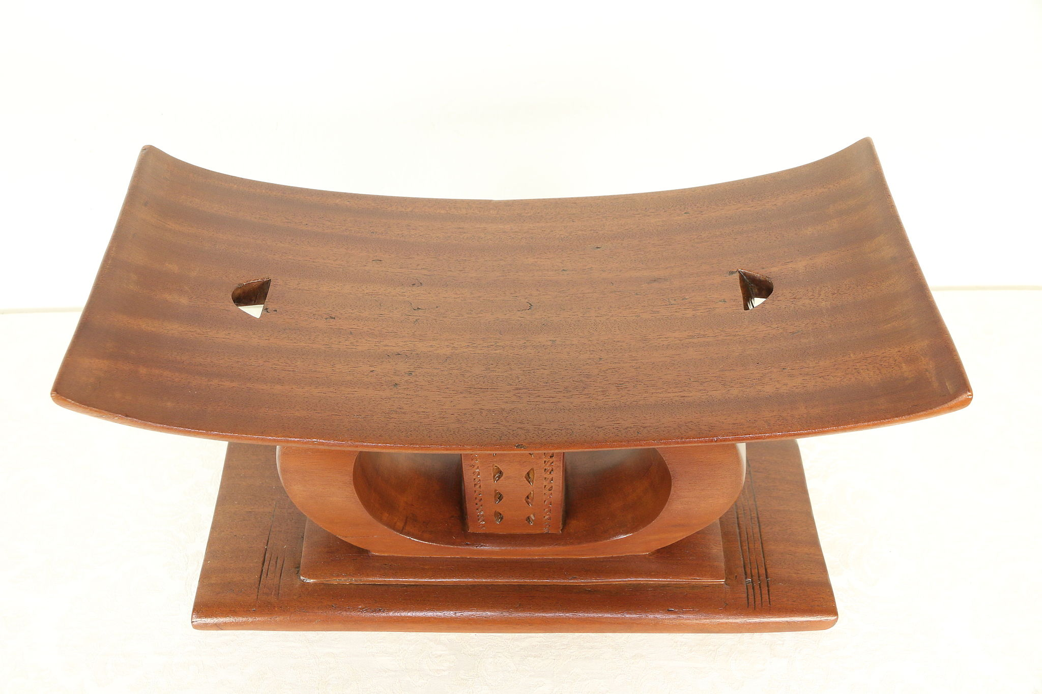 stool chair ghana leather butterfly chairs african vintage carved mahogany or seat ashanti of 29985