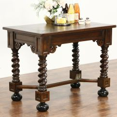Kitchen Console Apron Sink Sold Dutch Antique Oak Library Hall Or Table Island