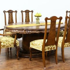 Vintage Dining Room Chairs Attachable High Chair To Table Sold Romweber Louis Xv De Gaulle 7 Pc Set