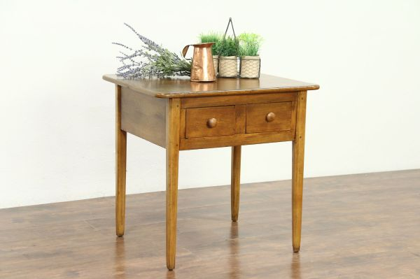 Sold - Country Pine 1810 Antique England Table 2