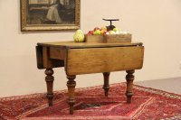 SOLD - English Country Pine 1860 Antique Dropleaf Console ...