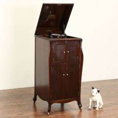 Modern Metal Chairs French Country Ladder Back Dining Sold - Victor 1920 Mahogany Victrola Wind Up Record Player Phonograph Model Vv-xi Harp Gallery