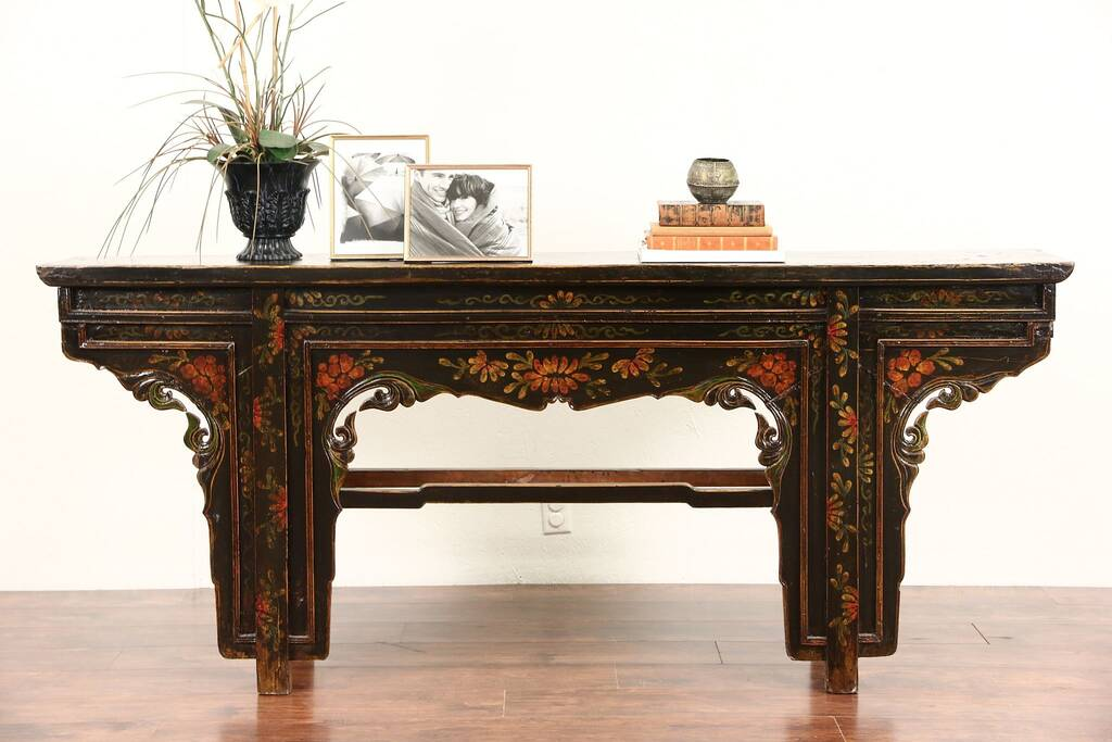 drexel sofa table corner sofas on finance sold - chinese 1900 antique altar, console or ...