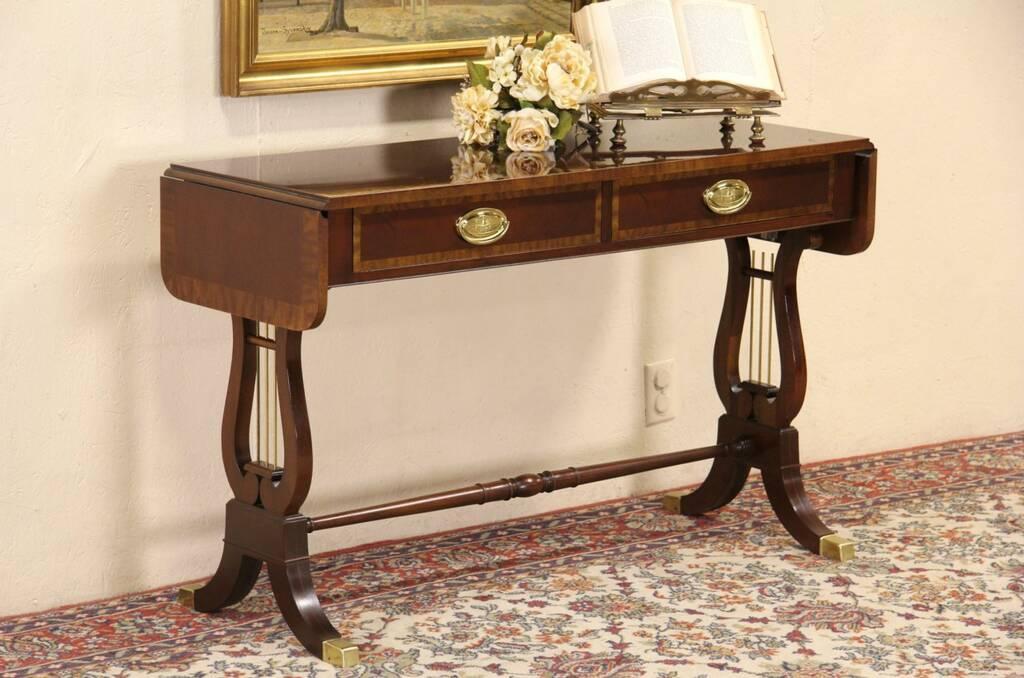 drexel sofa table internacional rs corinthians sp sofascore sold - baker banded mahogany dropleaf hall or ...