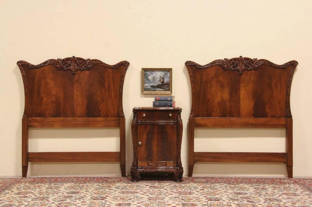 SOLD  Georgian Bedroom Set Pair Twin Headboards