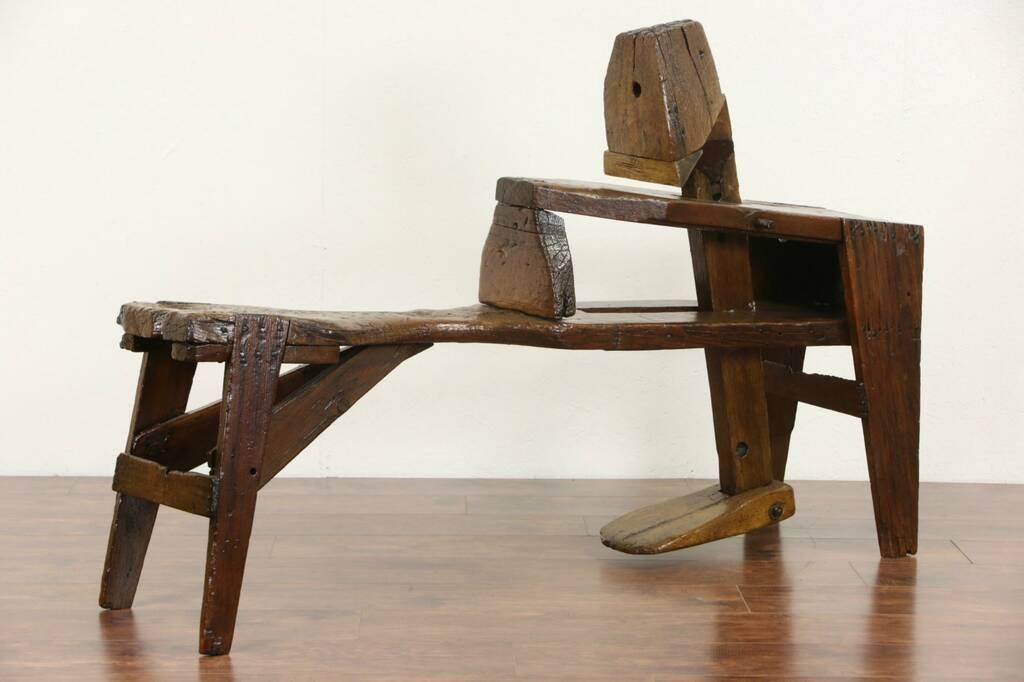 Sold Shaving Or Shave Horse Or Bench For Carpenter 1880