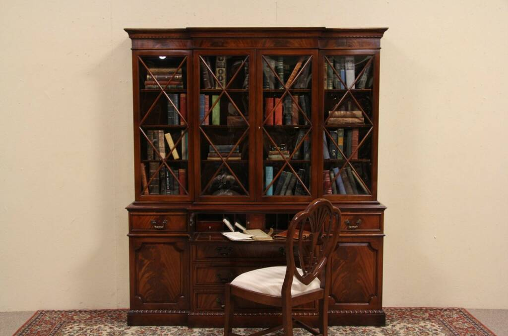 SOLD  Saginaw Vintage Breakfront Bookcase or China