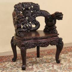 Modern Victorian Sofa Rooms To Go Power Reclining Sold - Chinese Dragon Hand Carved Antique 1920 Chair ...