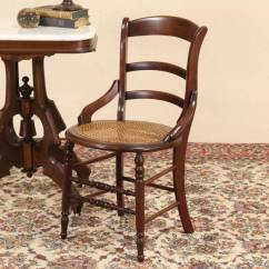 Henredon Asian Dining Chairs Outdoor Chair Seat Cushions Sold - Victorian Maple 1880 Side Or Chair, New Cane Harp Gallery Antique Furniture