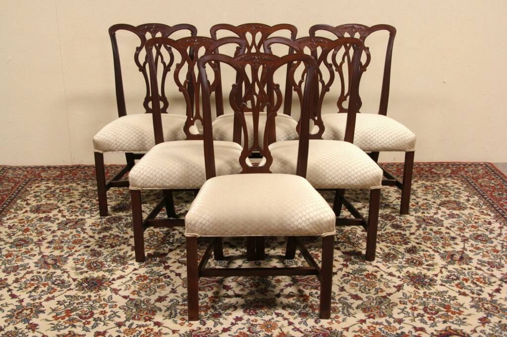 SOLD  Set of 6 Kittinger Georgian Vintage Dining Chairs