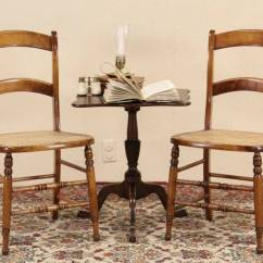 Henredon Asian Dining Chairs Purple For Bedroom Sold - Pair 1870''s Antique Maple Or Side Chairs, Newly Caned Seats Harp Gallery ...