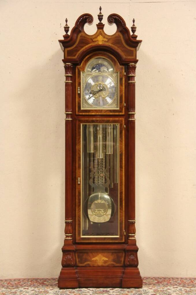 SOLD  Sligh Signed  Numbered Grandfather Tall Case Clock