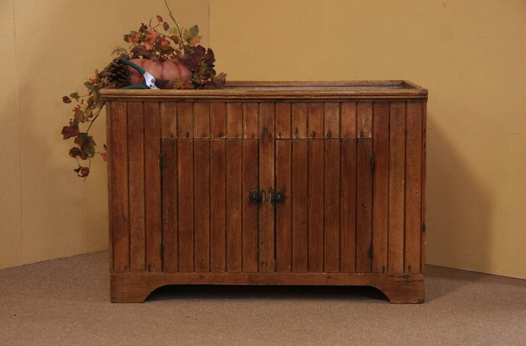 american made kitchen cabinets washable rugs sold - country oak wainscoting primitive antique dry sink ...