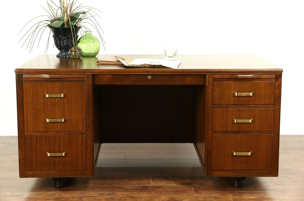 SOLD  Midcentury Modern 1950s Vintage Executive Desk