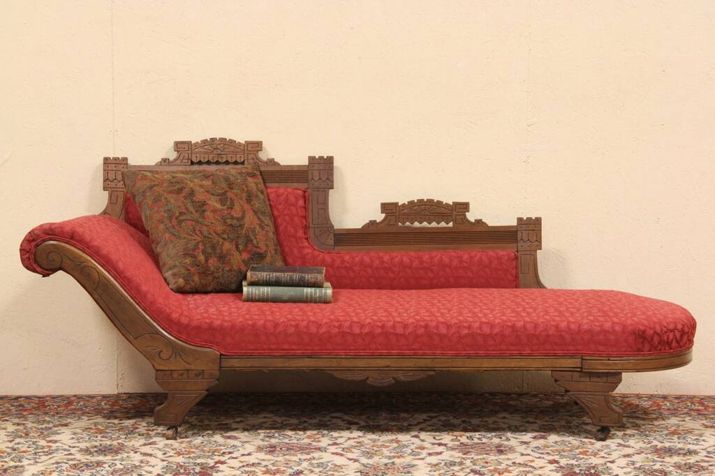 SOLD  Eastlake 1880 Chaise Lounge or Fainting Couch
