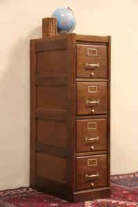 SOLD - Macey Oak 4 Drawer Antique 1910 File Cabinet ...