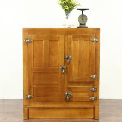 German Made Kitchen Cabinets Hutch For Sale Maple 1900 Antique Pantry Icebox, Original Brass ...