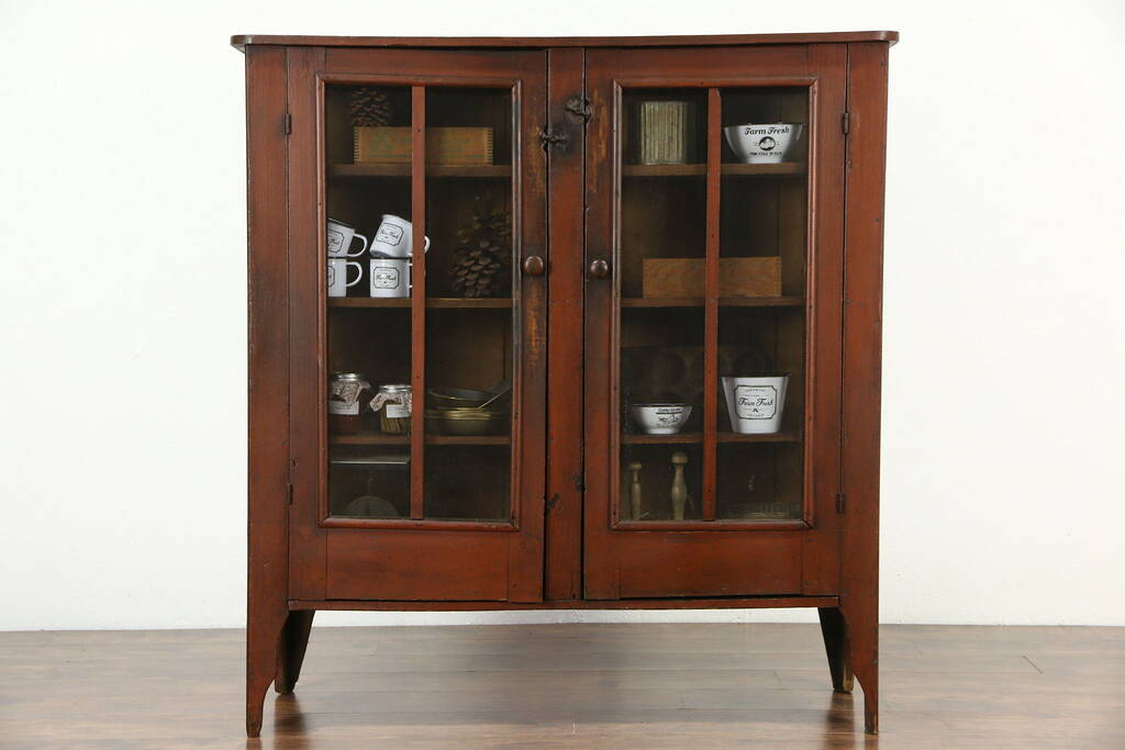 SOLD  Country Pine Antique 1880 Pantry Pie Safe Cupboard