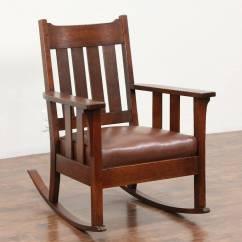 Antique Living Room Chair Styles Garden Rocking Covers Arts & Crafts Mission Oak Rocker, 1905 Craftsman - Harp Gallery ...