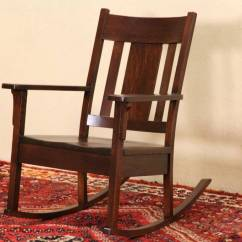 Victorian Rosewood Chairs Tommy Bahama Beach Chair Backpack Sold - Arts & Crafts Mission Oak Rocker, 1905 Antique Rocking Harp Gallery Furniture
