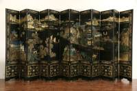 SOLD - Chinese 12 Panel 20' Wide Coromandel Carved Lacquer ...