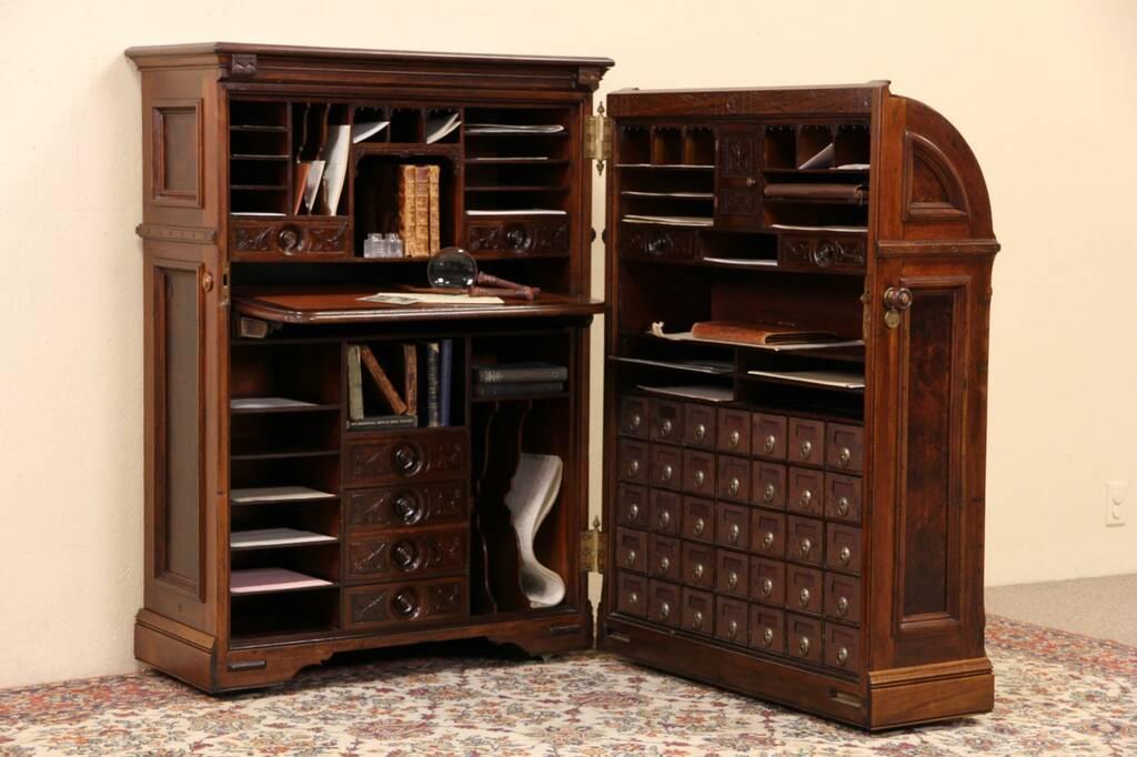 SOLD  Moore Victorian Antique Quot Office Queen Walnut
