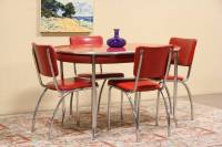 Howellite Retro Red Kitchen Or Dinette Set, Table & 4 ...