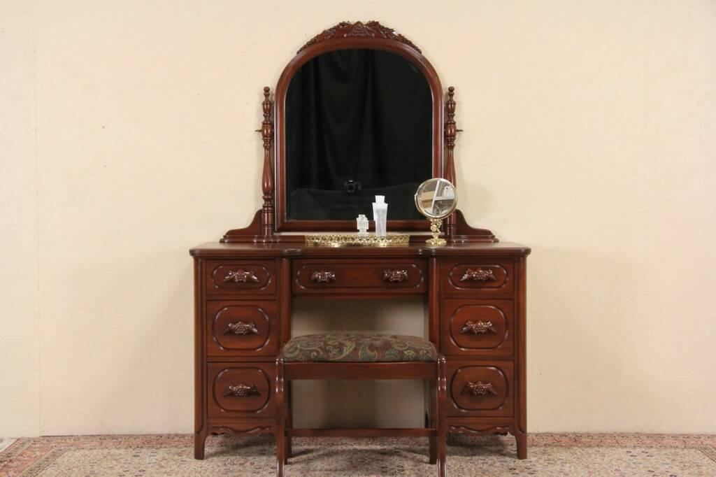 SOLD  Davis Signed 1950 Vintage Desk Dressing Table or