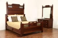 Cherry Victorian Eastlake 1880 Antique Bedroom Set, Queen ...