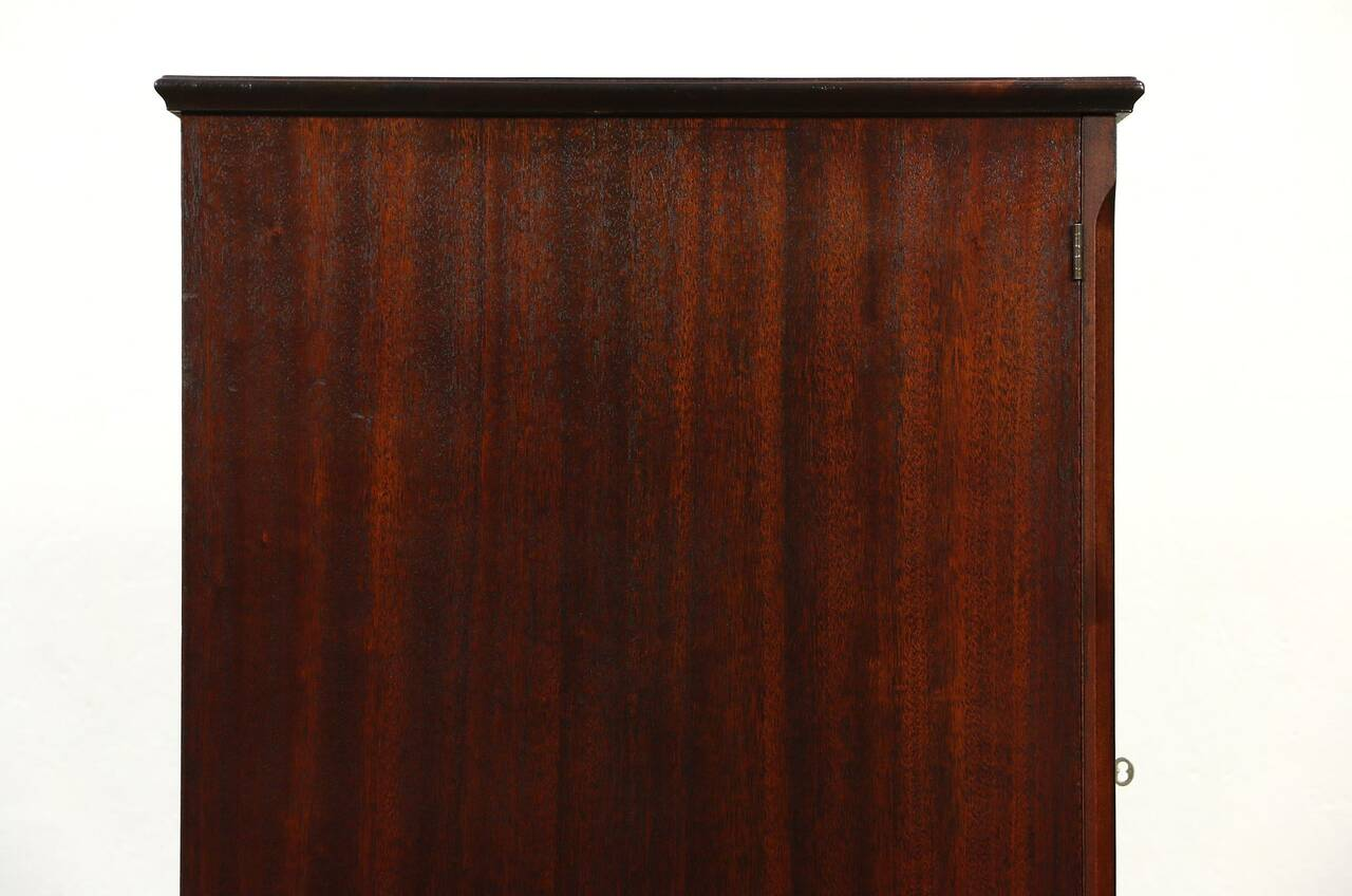 sofa records philadelphia sofas made pooley signed antique mahogany record cabinet pat 1910