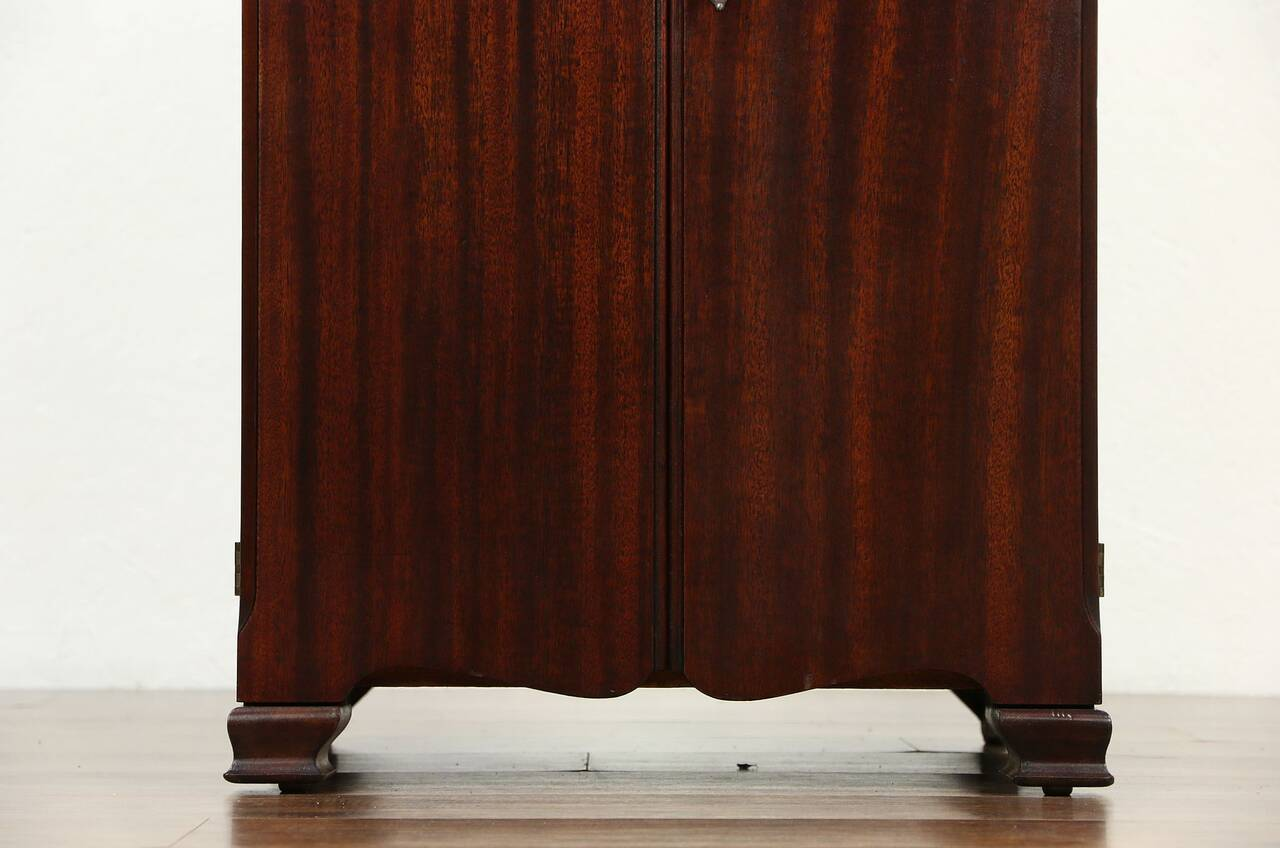 sofa records philadelphia l shaped leather sofas uk pooley signed antique mahogany record cabinet pat 1910