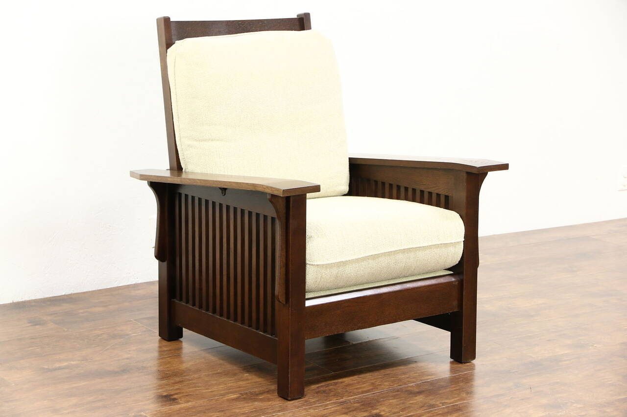 bassett furniture chairs memory foam chair bed arts and crafts mission oak vintage morris craftsman