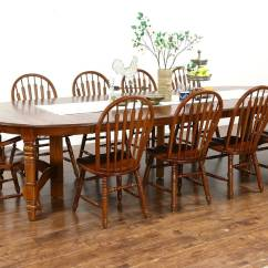 Retro Dining Room Table And Chairs Mid Century Danish Chair Oak Vintage Set 54 Quot 8 Leaves 10