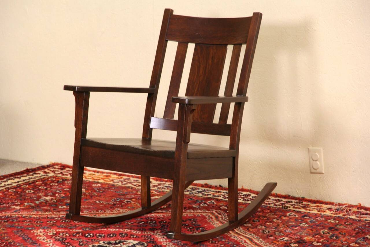 rocking chair antique styles flip sleeper sofa arts and crafts mission oak rocker 1905