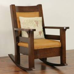 Craftsman Rocking Chair Styles Lawn Cushions Arts And Crafts Mission Oak 1905 Antique Rocker