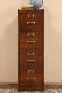 Globe 4 Drawer Oak 1915 Antique Craftsman File Cabinet ...