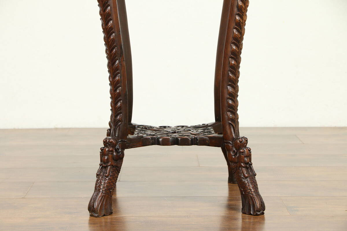 Chinese Antique Rosewood Plant Stand Or Sculpture Pedestal