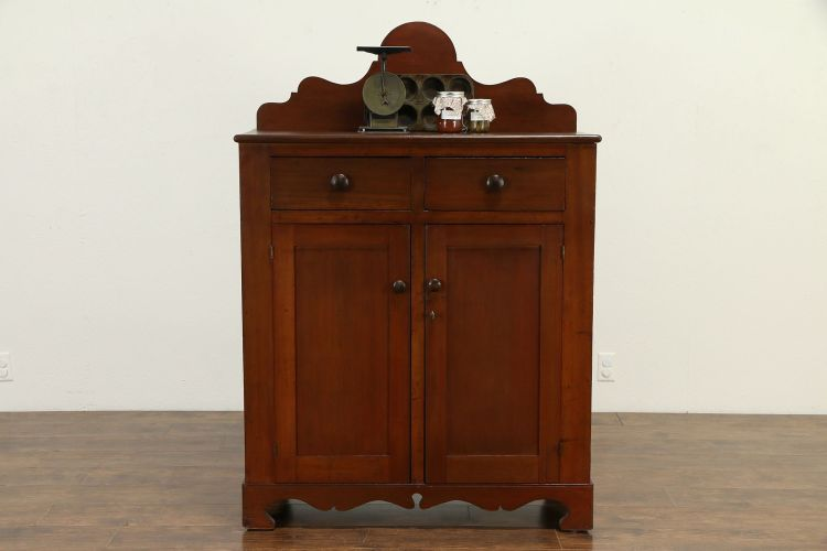 Country Farmhouse Kitchen Pantry Cabinet Antique 1860 Jelly Cupboard 33012 Harp Gallery Antiques Furniture