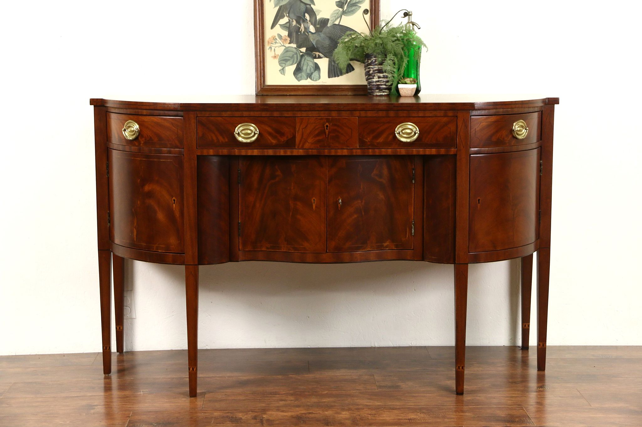 Sold Henredon Natchez Collection Vintage Mahogany Sideboard Buffet Or Server Harp Gallery Antiques Furniture