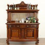 Sold Carved Mahogany Antique Sideboard Server Or Back Bar Beveled Mirror 31991 Harp Gallery Antiques Furniture