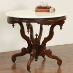 Sold Victorian Oval Antique 1870 S Pedestal Parlor Lamp Table Marble Top Harp Gallery Antiques Furniture