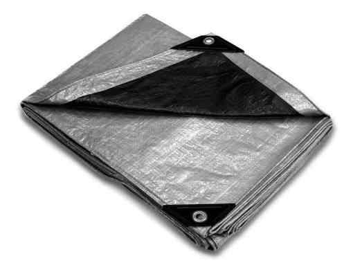 Silver Poly Economy Hurricane Tarps - sold per case-0