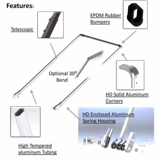 COMPLETE ELECTRIC WIND UP & ALUMINUM ARM SYSTEM FOR BODIES UP TO 20' -414