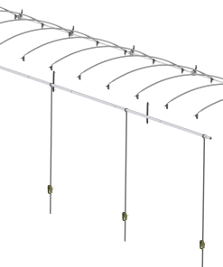 Ratchet-Style Manual Roll Tarp System for trucks up to 48'-381