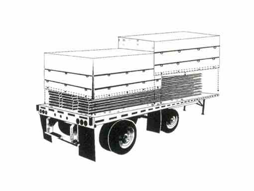 """""""IMPORT"""" Black Flatbed Tarp Heavy Duty 4' Drop 16' x 26' with End Flap-767"""