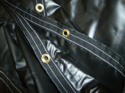 """""""IMPORT"""" Black Flatbed Tarp Heavy Duty 4' Drop 16' x 26' with End Flap-766"""