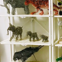Critically Endangered Animals Sculpture display