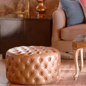 Harringtonton Galleries pearl ottoman